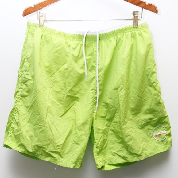 f6ea89fceccc4 Nautica Swim | 90s Vintage Competition Lime Green Trunks | Poshmark